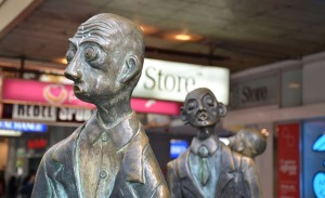 Sculptures on Swanston Street, Melbourne