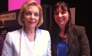 With Ita Buttrose at PR Directions 2011 in Sydney