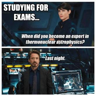 Exam study period meme