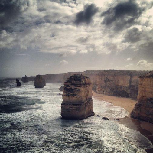 Twelve Apostles, Victoria. Instagram filter.