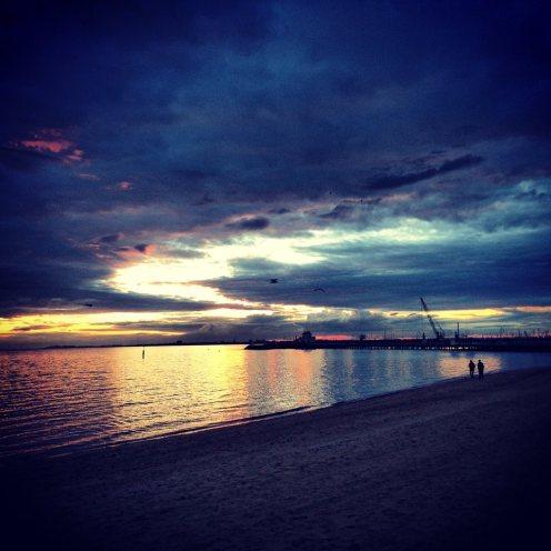 St Kilda Beach, Melbourne. Instagram filter.